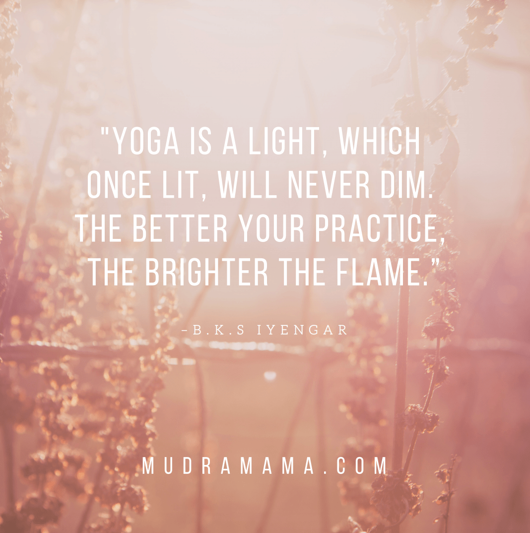 quote about practicing yoga